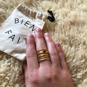Madewell Gold Statement Ring